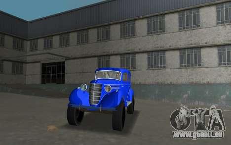 GAZ 11-73 Bleu Royal pour GTA Vice City sur la vue arrière gauche