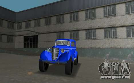 GAZ 11-73 Royal Blau für GTA Vice City zurück linke Ansicht