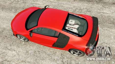 GTA 5 Audi R8 GT 2011 v0.5 [Beta] Rückansicht