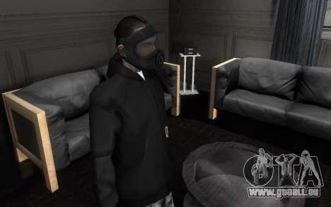 GTA5 Gasmask pour GTA San Andreas deuxième écran