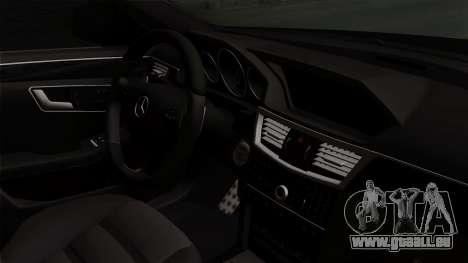 Mercedes-Benz E63 AMG Police Edition für GTA San Andreas rechten Ansicht