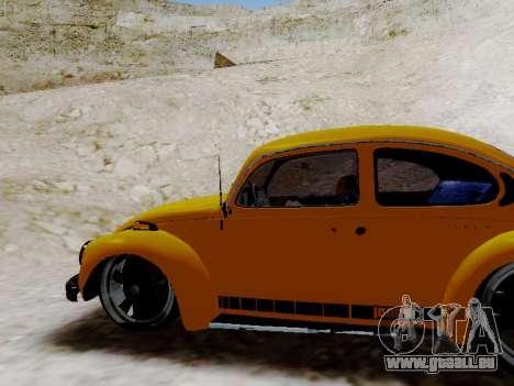 Volkswagen Beetle 1975 Jeans Édition Personnalis pour GTA San Andreas salon