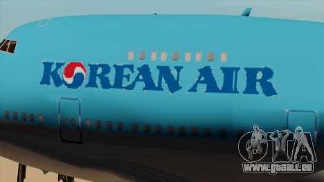 Boeing 747 Korean Air pour GTA San Andreas vue arrière