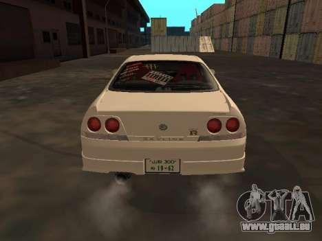 Nissan Skyline R33 Drift Monster Energy JDM für GTA San Andreas rechten Ansicht