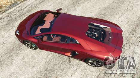 GTA 5 Lamborghini Aventador LP700-4 v0.2 vue arrière