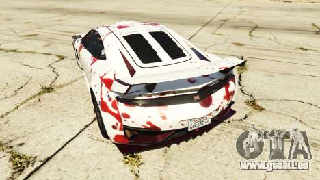 GTA 5 Dinka Jester (Racecar) Blood hinten links Seitenansicht