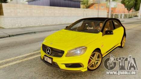 Mercedes-Benz A45 AMG 2012 PJ pour GTA San Andreas salon
