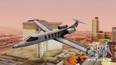 Shamal from GTA Vice City v1.0 pour GTA San Andreas sur la vue arrière gauche
