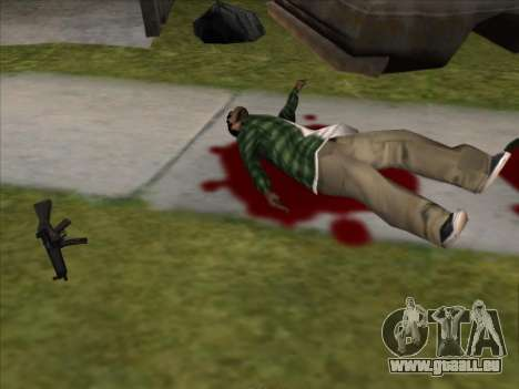 Weapons on the Ground für GTA San Andreas