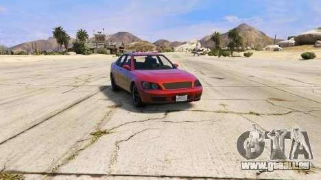 GTA 5 Le HKS autocollants sur Sultan arrière vue latérale gauche