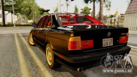 BMW 535i E34 1993 pour GTA San Andreas laissé vue