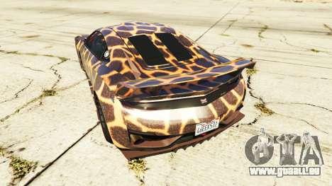 GTA 5 Dinka Jester (Racecar) Cheetah arrière vue latérale gauche