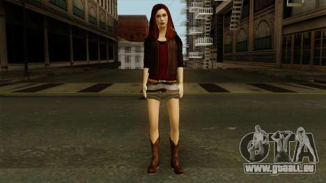 Amy Pond from Doctor Who für GTA San Andreas zweiten Screenshot