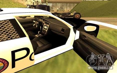 Dodge Charger Super Bee 2008 Vice City Police pour GTA San Andreas sur la vue arrière gauche