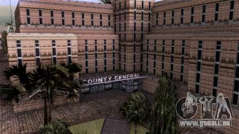 HQ LS Hospital Mipmap 16x pour GTA San Andreas troisième écran