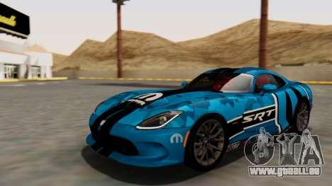 Dodge Viper SRT GTS 2013 HQLM (MQ PJ) für GTA San Andreas obere Ansicht