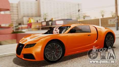 GTA 5 Adder Secondary Color pour GTA San Andreas sur la vue arrière gauche
