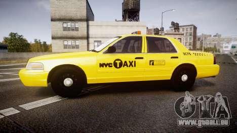 Ford Crown Victoria 2011 NYC Taxi pour GTA 4 est une gauche