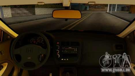 Honda Civic pour GTA San Andreas sur la vue arrière gauche