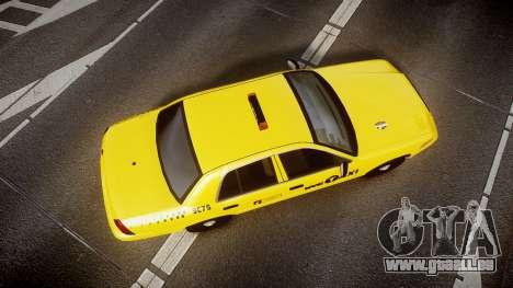 Ford Crown Victoria 2011 NYC Taxi pour GTA 4 est un droit