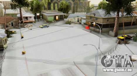 Winter Grove Street für GTA San Andreas