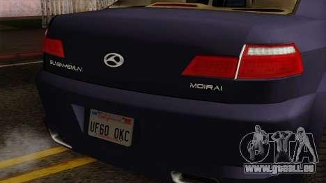 Sungnyemun Moirai IVF pour GTA San Andreas sur la vue arrière gauche