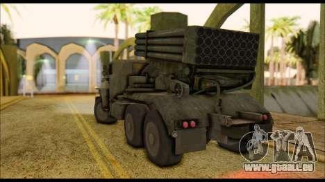 BM-21 Grad CoD MW pour GTA San Andreas laissé vue