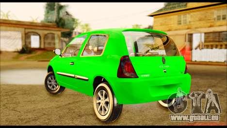Renault Clio Mio für GTA San Andreas zurück linke Ansicht