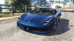 Ferrari 458 Italia v1.0.5 pour GTA 5
