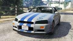 Nissan Skyline R34 GT-R 2002 Fast and Furious pour GTA 5