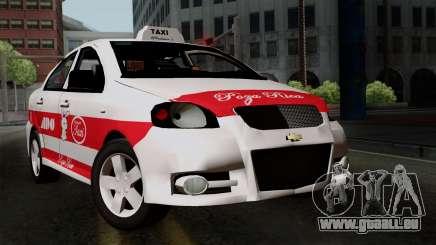 Chevrolet Aveo Taxi Poza Rica pour GTA San Andreas