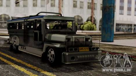 Milwaukee Motors Custom Jeepney pour GTA San Andreas