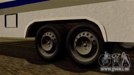 Camper Trailer pour GTA San Andreas sur la vue arrière gauche