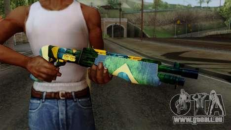 Brasileiro Combat Shotgun v2 pour GTA San Andreas troisième écran