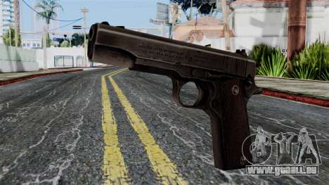 Colt M1911 from Battlefield 1942 pour GTA San Andreas