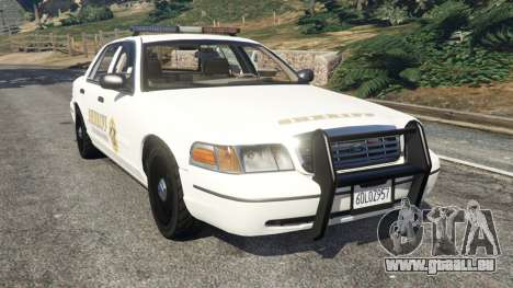 Ford Crown Victoria 1999 Sheriff v1.0 pour GTA 5