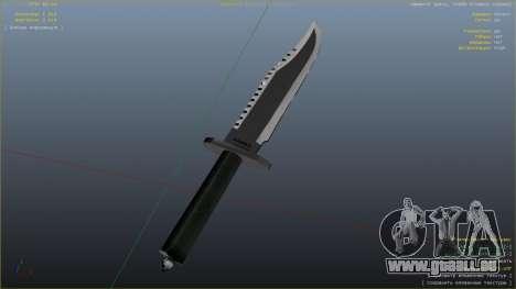 Le Couteau De Rambo pour GTA 5