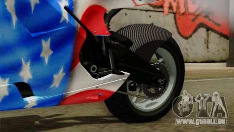 Bati America Motorcycle für GTA San Andreas rechten Ansicht