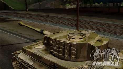 Panzerkampfwagen VI Ausf. E Tiger No Interior pour GTA San Andreas vue de droite