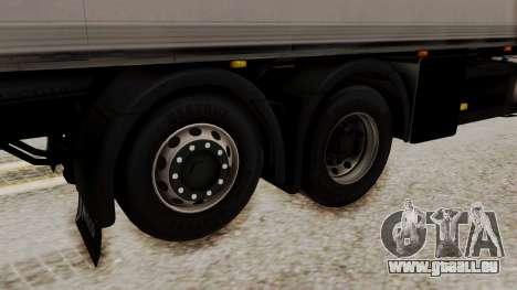 Iveco Truck from ETS 2 pour GTA San Andreas sur la vue arrière gauche