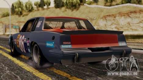 Pontiac GranPrix Hotring 1981 No Dirt pour GTA San Andreas laissé vue