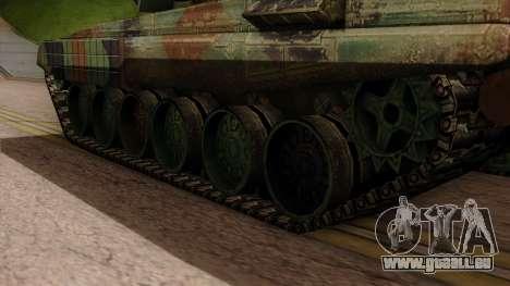 PT-91A Twardy pour GTA San Andreas sur la vue arrière gauche
