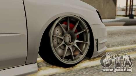 Subaru Impreza WRX STI HQ pour GTA San Andreas sur la vue arrière gauche