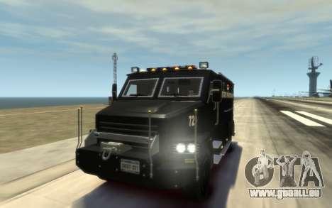 International 4000-Series SWAT Van pour GTA 4 est un côté