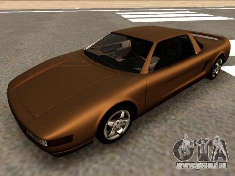 Infernus PFR v1.0 final für GTA San Andreas zurück linke Ansicht