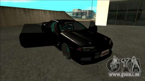 Nissan Skyline R32 Drift Monster Energy pour GTA San Andreas vue de côté