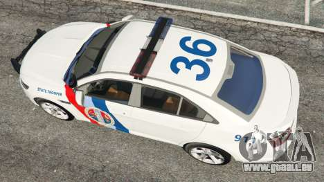 GTA 5 Ford Taurus State Troopers San Andreas Rückansicht