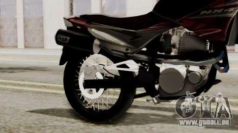 Honda NX400 Falcon pour GTA San Andreas vue de droite