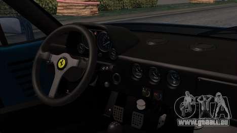 Ferrari F40 1987 with Up without Bonnet HQLM für GTA San Andreas rechten Ansicht