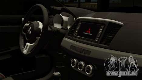 Mitsubishi Lancer Evolution X FQ400 Pro für GTA San Andreas rechten Ansicht